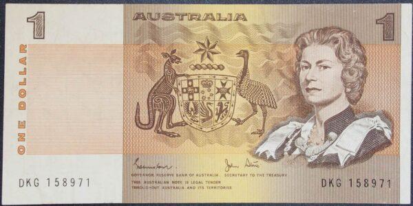 1982 Australia One Dollar Note - DKG