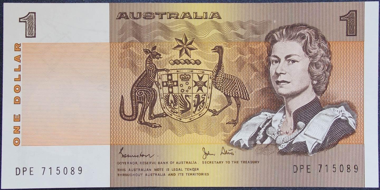 1982 Australia One Dollar Note - DPE
