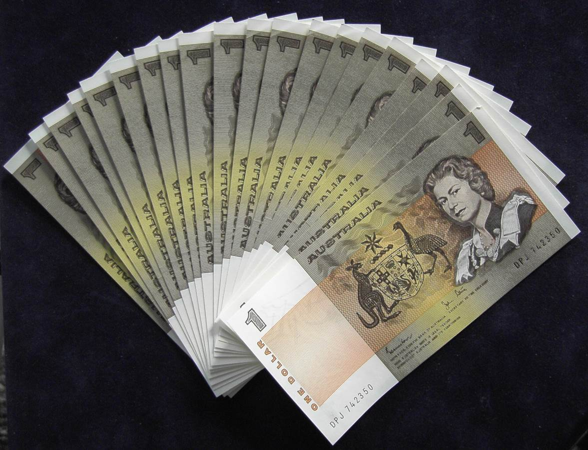 1982 Australia One Dollar Notes x 20 - DPJ