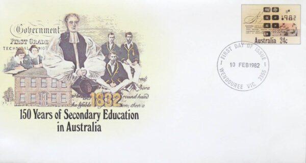 1982 Australia Post FDC - 150 Years Secondary Education