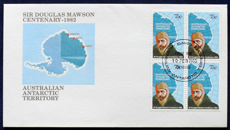 1982 Australia Post FDC - Sir Douglas Mawson Centenary