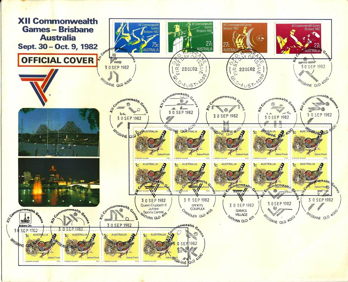 1982 Australia Post FDC - XII Commonwealth Games