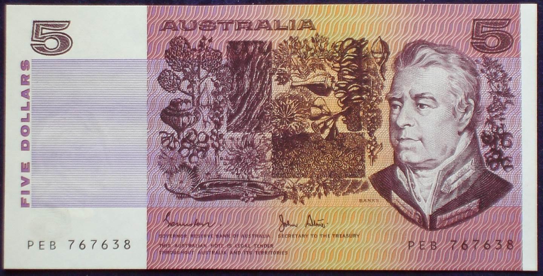 1983 Australia Five Dollars - PEB