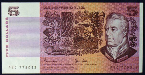 1983 Australia Five Dollars - PEC