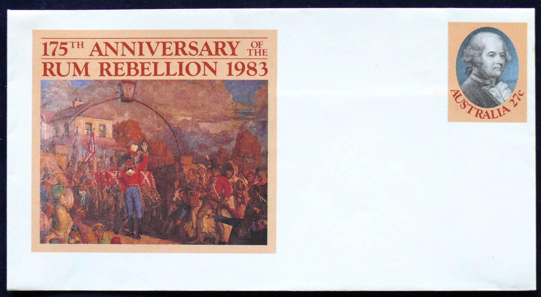 1983 Australia Post FDC - 175th Anniv. Rum Rebellion -A