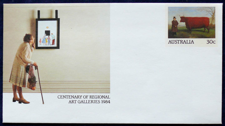 1984 Australia Post FDC - Centenary of Art Galleries