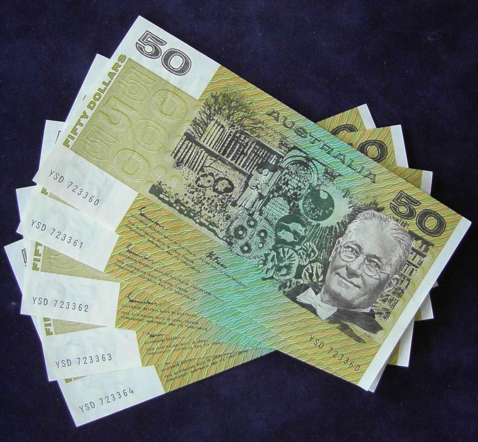 1985 Australia Fifty Dollars x 5 - YSD