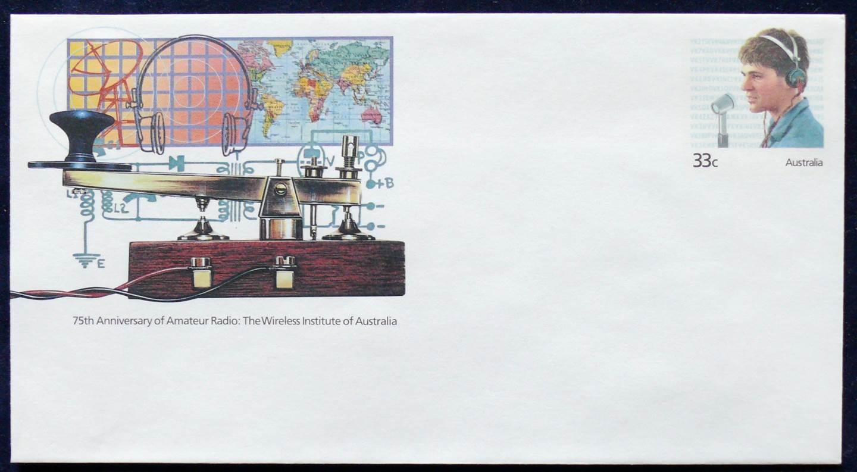 1985 Australia Post FDC - 75th Anniv. of Amateur Radio