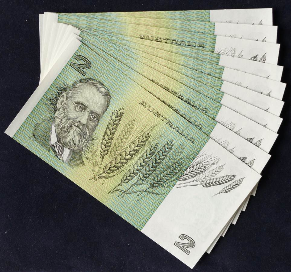 1985 Australia Two Dollars x 10 - LKV