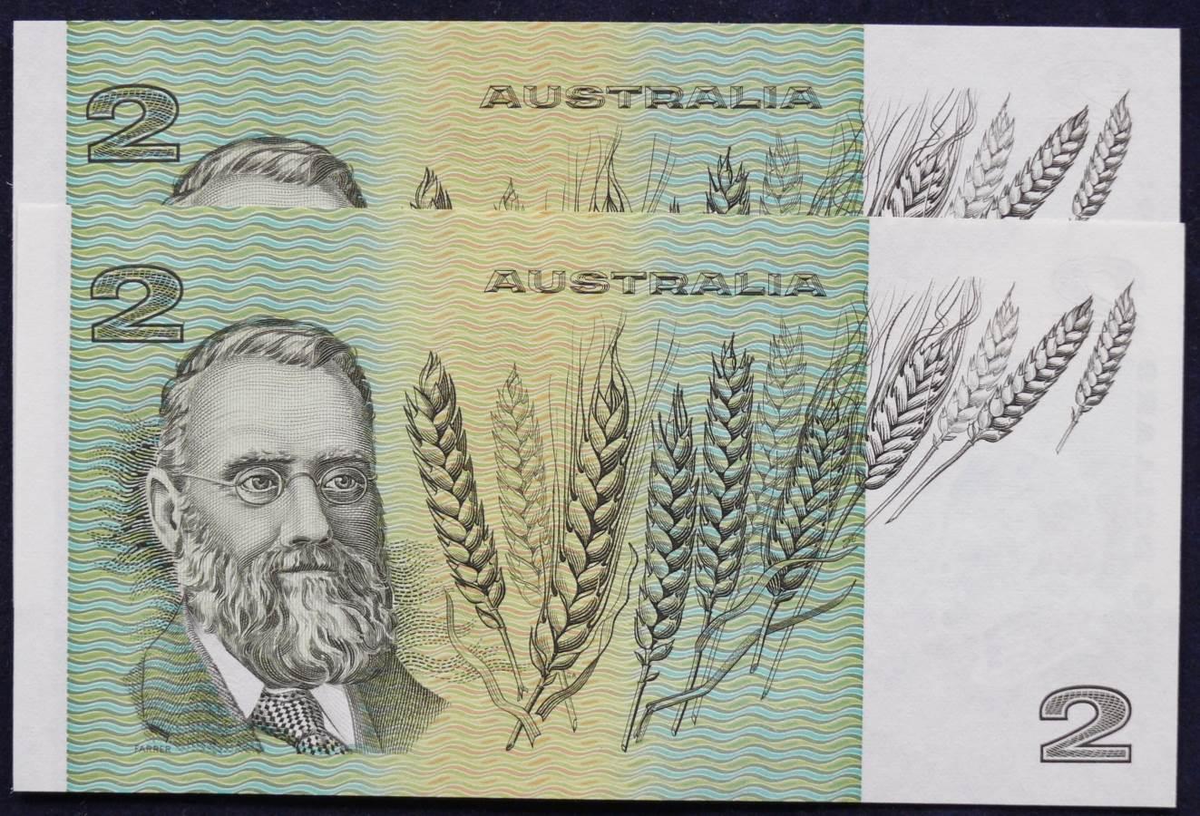 1985 Australia Two Dollars x 2 - LGS