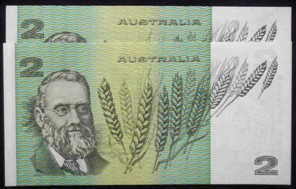 1985 Australia Two Dollars x 2 - LJK