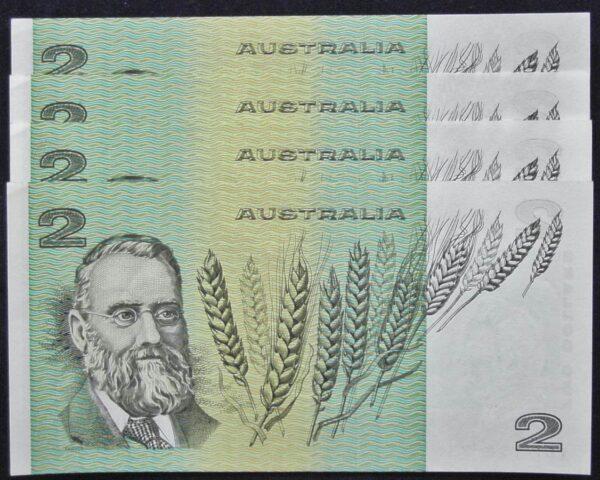 1985 Australia Two Dollars x 4 - LDP