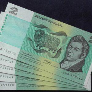 1985 Australia Two Dollars x 5 - LHB