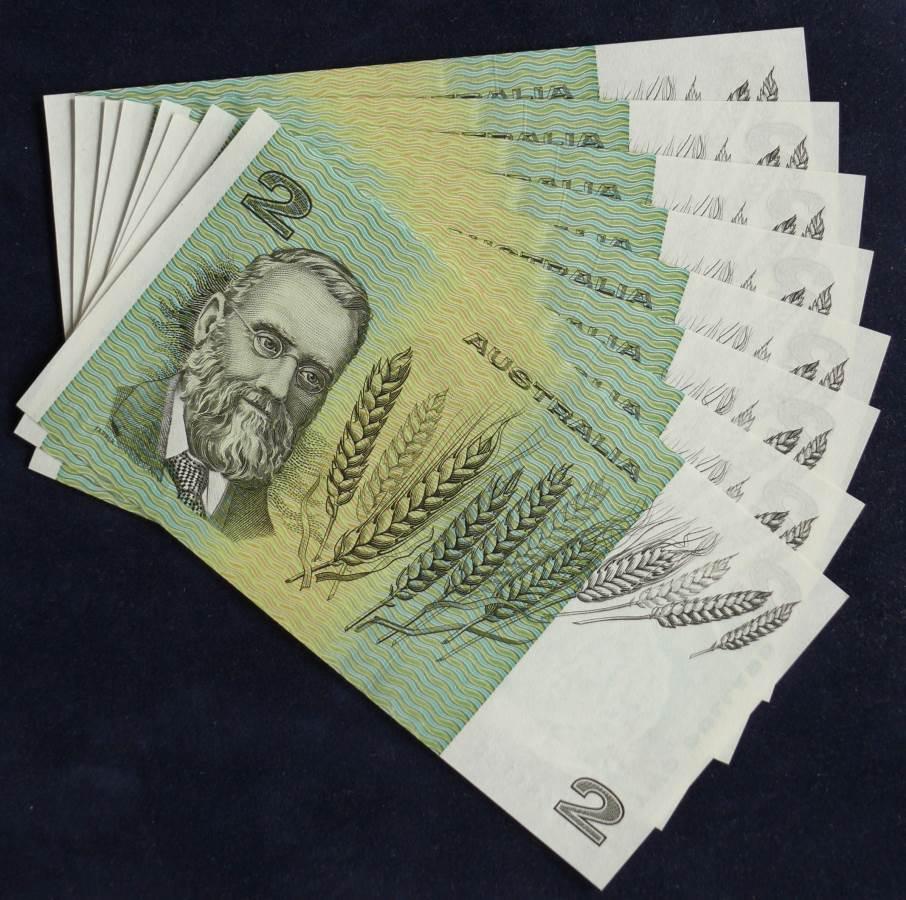 1985 Australia Two Dollars x 8 - LJX