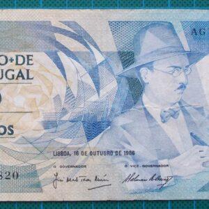 1986 Portugal 100 Escudos Banknote AGV45820
