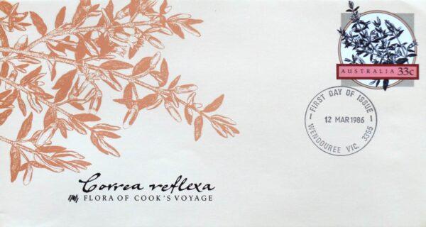 1986 - Australia Post FDC - Flora of Cook's Voyage