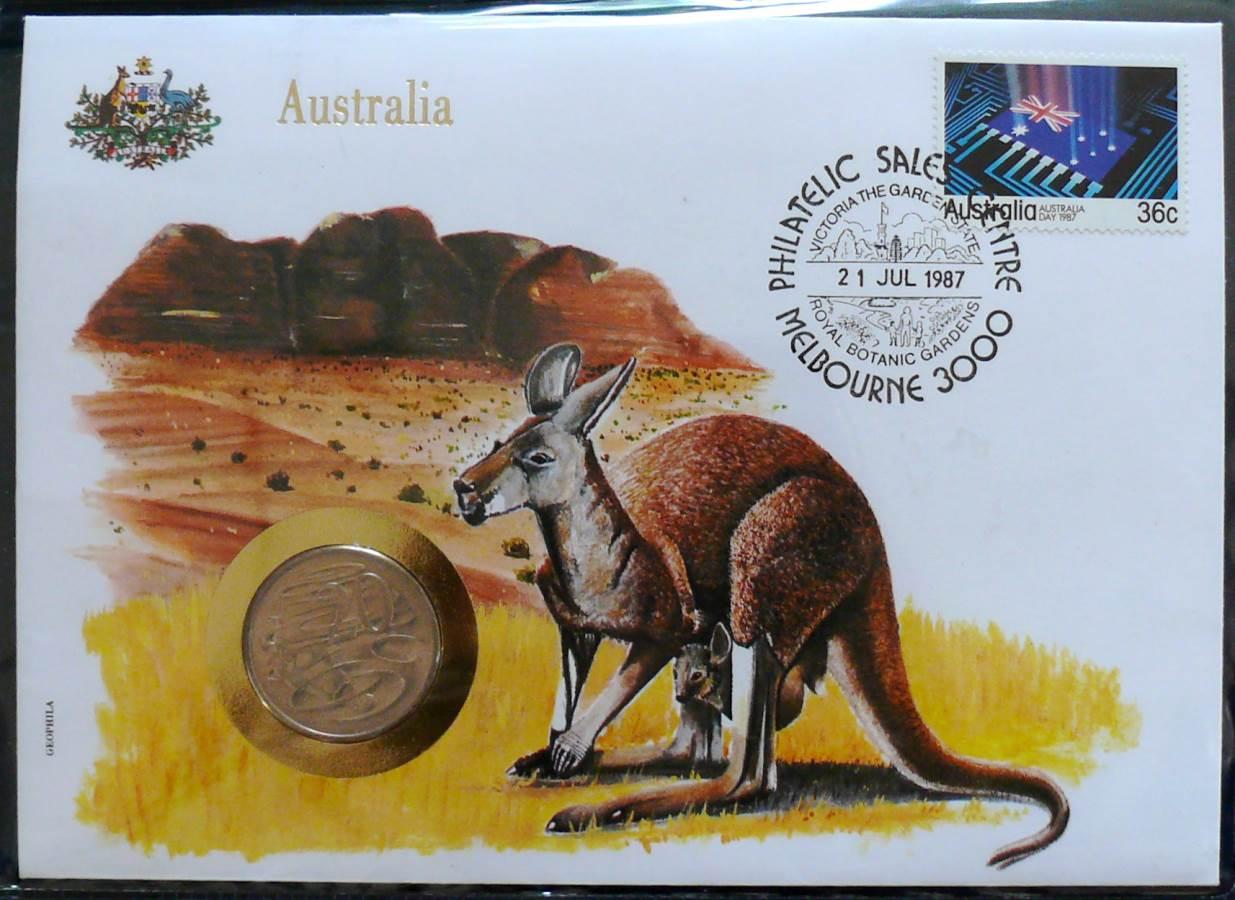 1987 - Australia 1 Dollar and  20 Cents Folder