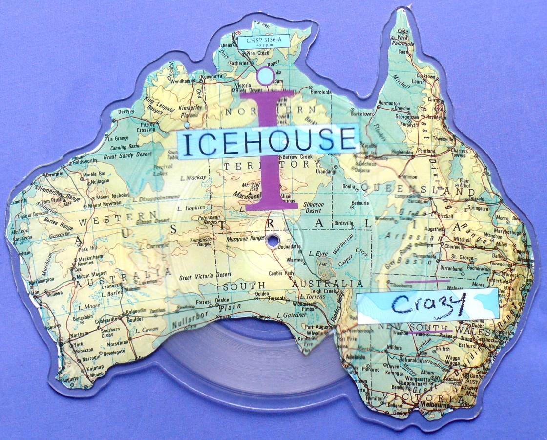 1987 Icehouse Shaped Vinyl Picture Disc - Crazy