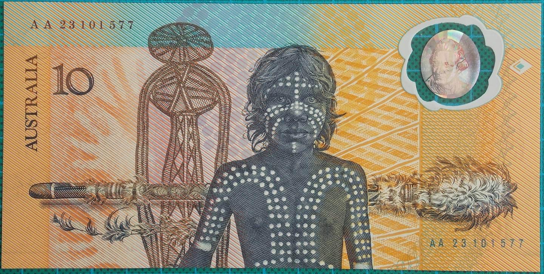 1988 Australia $10 Bicentenary Issue AA23101577 Last Prefix