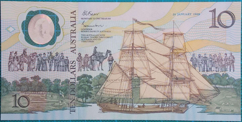 1988 Australia $10 Bicentenary Issue AA23101580 Last Prefix