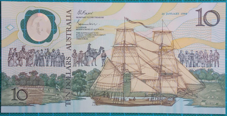 1988 Australia $10 Bicentenary Issue AA23101584 Last Prefix
