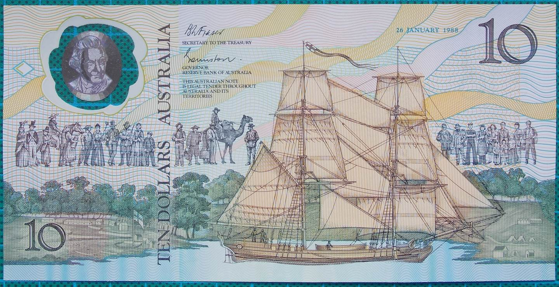 1988 Australia $10 Bicentennial Folder AA 04 With Qantas And Ansett