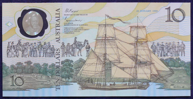 1988 Australia $10 Bicentennial Folder - AA 11