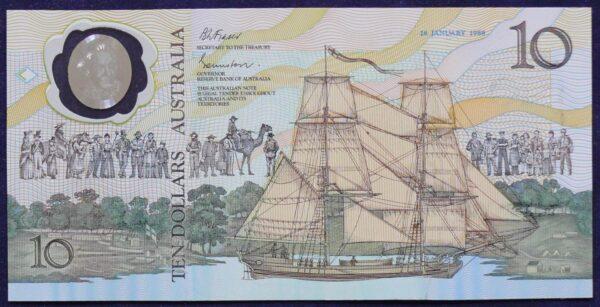 1988 Australia $10 Bicentennial Folder - AA 12