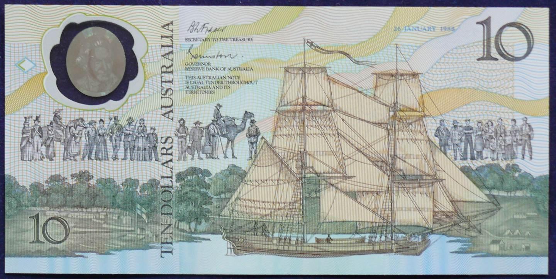 1988 Australia $10 Bicentennial Folder - AA 15  A