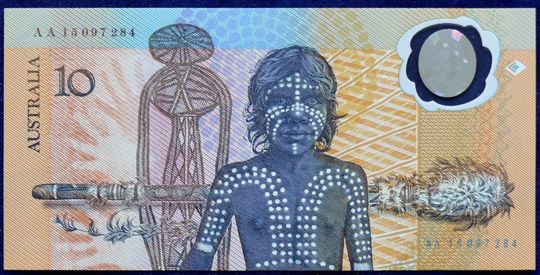 1988 Australia $10 Bicentennial Folder - AA 15  B