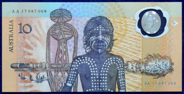 1988 Australia $10 Bicentennial Folder - AA 17