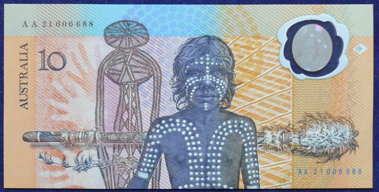 1988 Australia $10 Bicentennial Folder - AA 21 - Paired Number