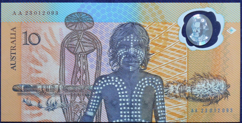 1988 Australia $10 Bicentennial Issue x 2 - AA 23 Last Prefix