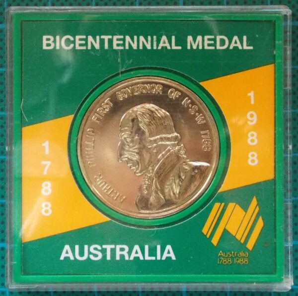 1988 AUSTRALIA BICENTENNIAL MEDAL IN CAPSULE