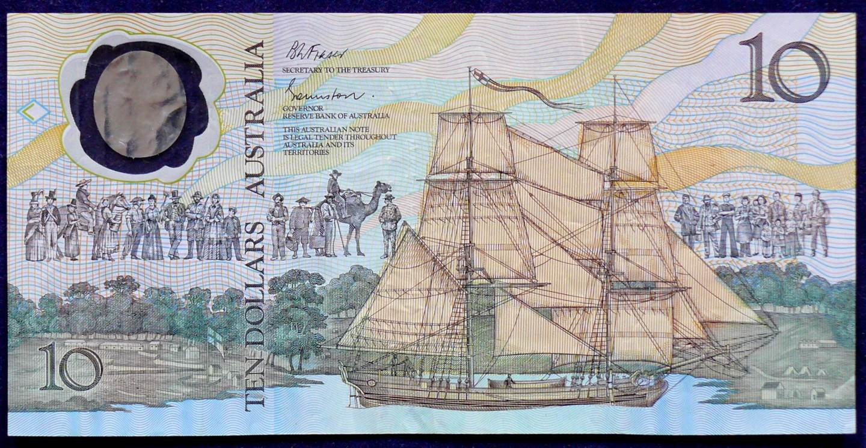 1988 Australia Ten Dollars Bicentennial - AB23