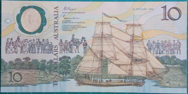 1988 Australia Ten Dollars Bicentennial Issue - AA08x3
