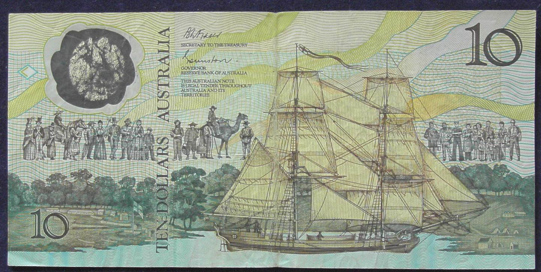 1988 Australia Ten Dollars Bicentennial Issue - AB57