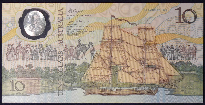 1988 Ten Dollars Bicentennial Issue - AA 01