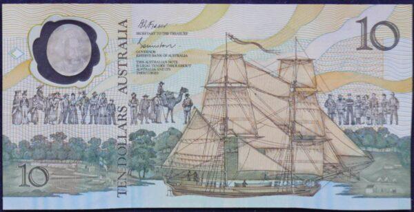 1988 Ten Dollars Bicentennial Issue - AB10 - First Prefix  A