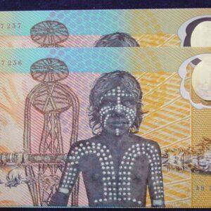 1988 Ten Dollars Bicentennial Issue x 2 - AB20 93