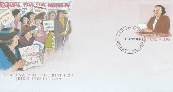 1989 Australia Post FDC - Centenary of Jessie Street
