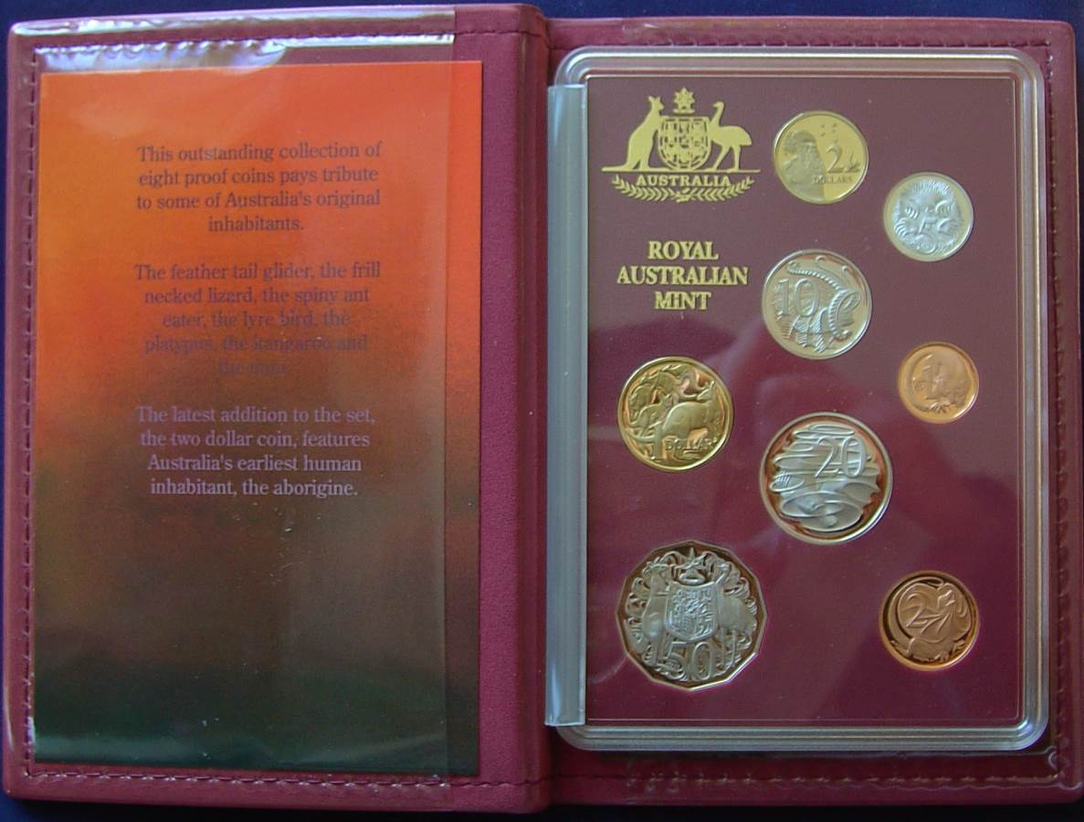 1989 RAM Decimal Boxed Proof Coin Set