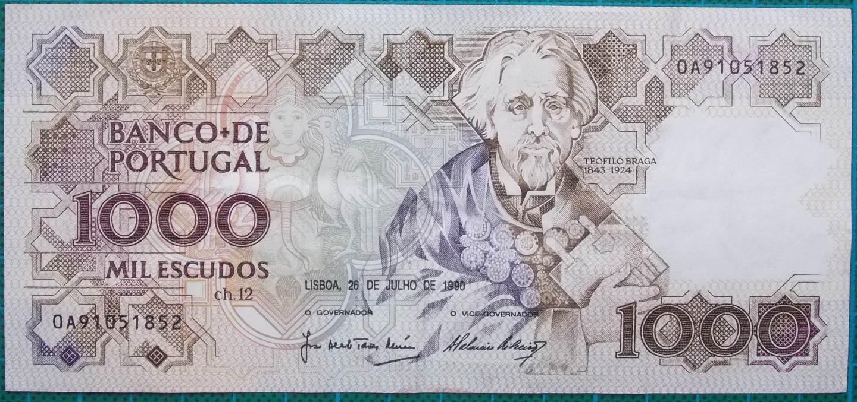 1990 Portugal 1000 Escudos 0A91051852
