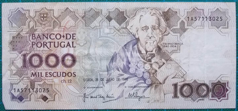 1990 Portugal 1000 Escudos 1A57113025