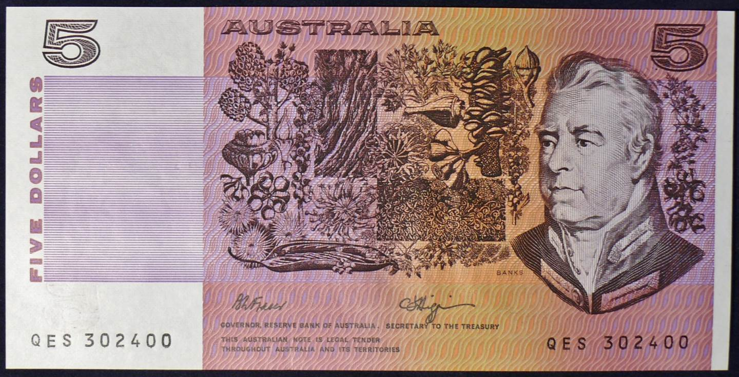 1990 Australia Five Dollars - QES