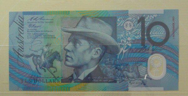 1991-3 $10 Australia Last and First NPA Folder - Purple OvPT