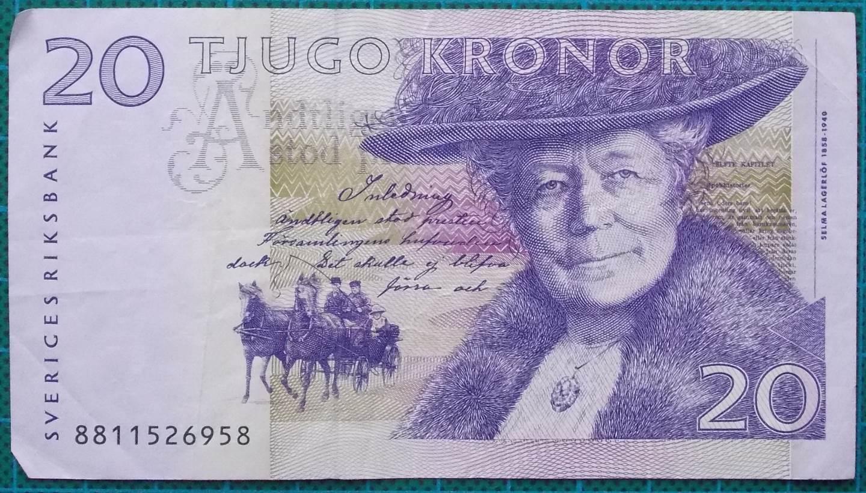 1991 Sweden Sveriges Riksbank 20 Kronor 8811526958