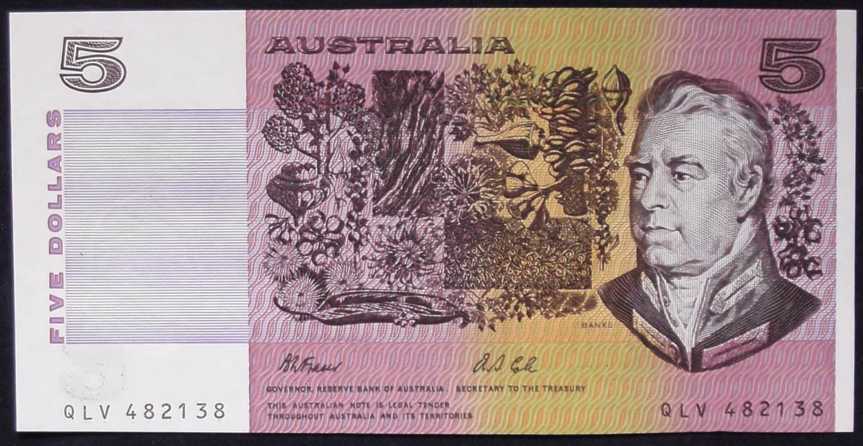 1991 Australia Five Dollars - QLV