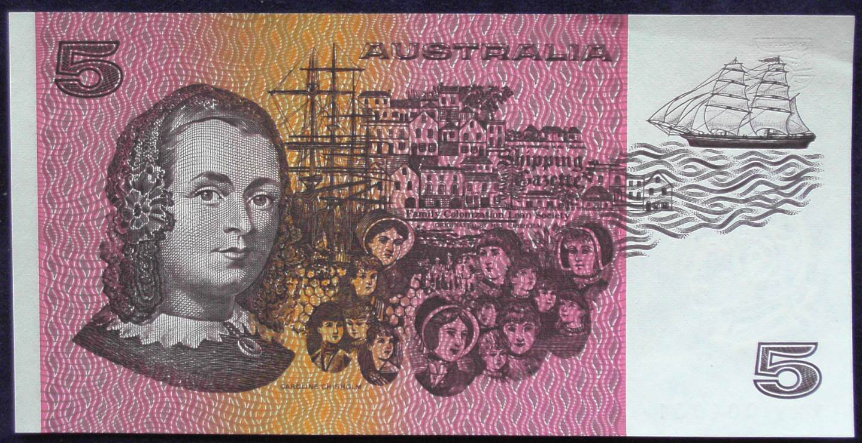1991 Australia Five Dollars -XXV 25th Anniv. Serial