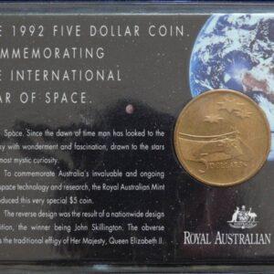 1992 Australia 5 Dollar Space Commemorative Coin
